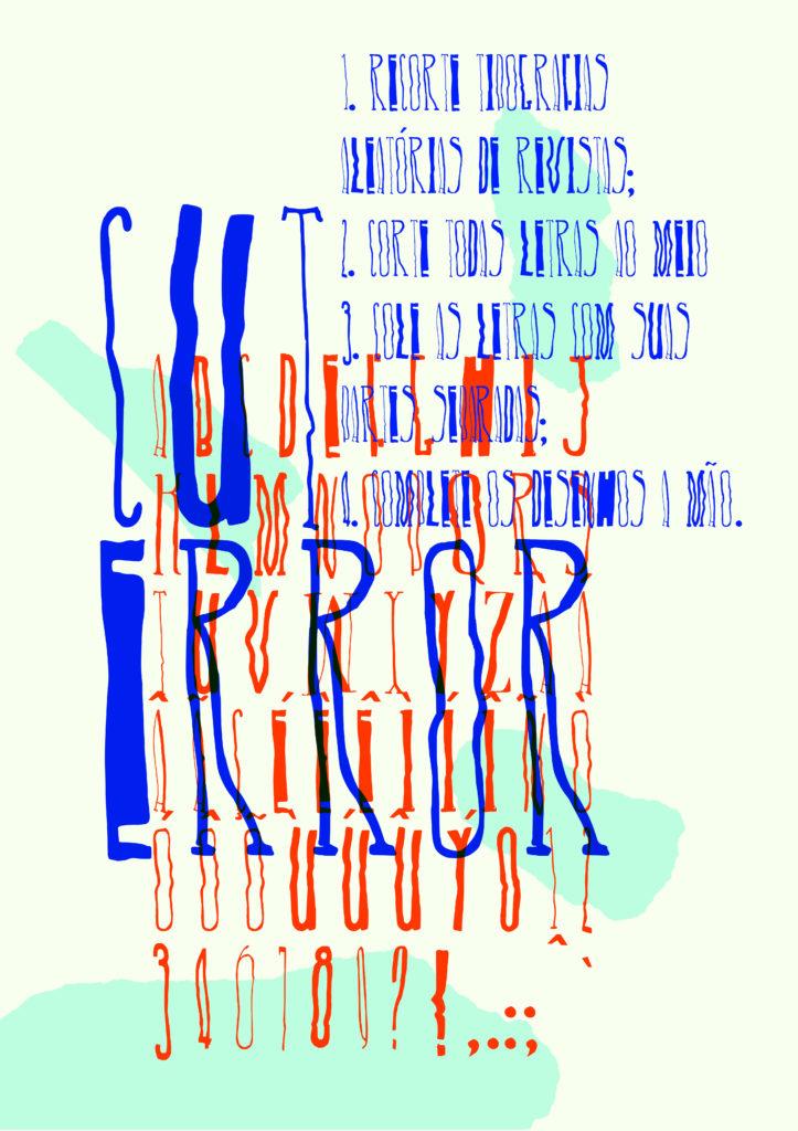 Fonte desenvolvida com FontForge durante o workshop Tipografia Libre com Marcelo Magalhães.